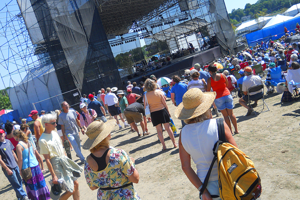 it was brutally hot at the american folk festival here in bangor last