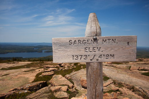 Sargent Mountain summit